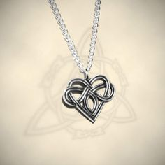 The Celtic Heart pendant. Sign of polyamory as a Celtic