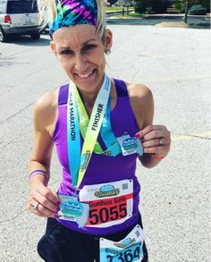Running on the Fly: Quad Cities Marathon... Double Bib = Double Bling