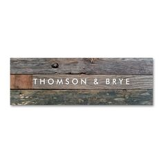 rustic country vintage reclaimed wood nature double sided mini business cards pack of 20 - Rustic Business Cards