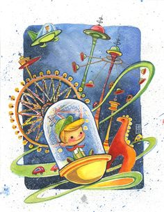 The Jetsons, Elroy Watercolor Illustration, Art Print $25 #alinachau