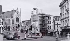 Western Road in the 1960s. Photograph shows the Central Free Church and 1 and 2 North Street Quadrant.