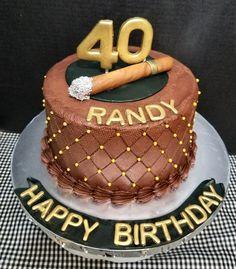 Birthday Cigar Themed Cake All buttercream with fondant cigar Birthday Cake Wine, 30th Birthday Cakes For Men, Mario Birthday Cake, Birthday Cake For Husband, Birthday Desserts, Themed Birthday Cakes, Themed Cakes, Party Party, Party Cakes