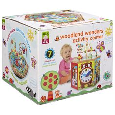 Alex Jr. Woodland Wonders Activity Station is a forest animal themed wooden activity cube – an interactive toy that helps your little one learn and grow as they play. With 7 sides of fun and a spinning base, this toy is sure to keep your child entertained and happy. Woodland Wonders features a curvy maze …