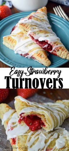 Easy Strawberry Turnovers Recipe- Butter Your Biscuit Strawberry turnovers are filled with sweet strawberries in a buttery, flaky puff pastry. A perfect summer indulgence, that everyone will love. Brunch Recipes, Breakfast Recipes, Dessert Recipes, Cheap Clean Eating, Clean Eating Snacks, Strawberry Turnover Recipe, Strawberry Puff Pastry, Delicious Desserts, Just Desserts