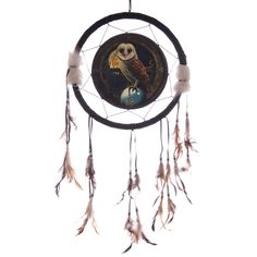 Decorative Magical Barn Owl 34cm Dreamcatcher Dreamcatchers are a great way to add colour and design to your home or workplace Made from a printed