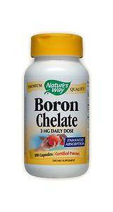 Boron Chelate  3 mg 100 Caps Expires 6/39/18 #NaturesWay #boron #chelate