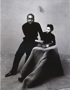 "African American artist Jacob Lawrence and wife, fellow artist Gwendolyn Knight. Lawrence referred to his style as ""dynamic cubism"", though by his own account the primary influence was not so much French art as the shapes and colors of Harlem."
