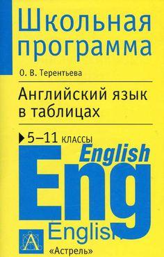 Английский язык в таблицах, 5 11 й классы, справочные материалы, терентьева о в , 2013