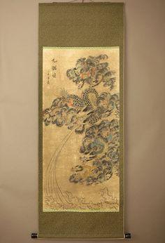 "CHINESE HANGING SCROLL ""Dragon""  @u615"