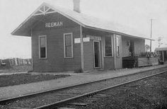 historical white cloud michigan | The Pere Marquette depot at Reeman, on their Berry to White Cloud ...