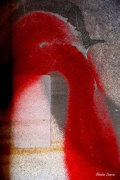 """Texte et photo Blandine Campion """"sous l'eau lourde de la douleur / la place du poème"""" - 2015."""