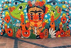 Frida street art, Ricardo Cavolo - Querétaro, Mexico, 2014