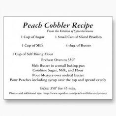Quick and Easy Peach Cobbler Recipe
