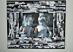 Black and White Frame via Etsy