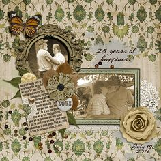 25 Years of Happiness -- Forever Love by Lilach Oren Designs / Forever Love Journal Cards by Lilach Oren Designs / Forever Love Flairs and Stickers by Lilach Oren Designs / Font: Arizonia