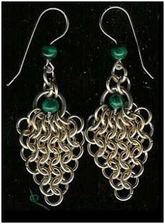 The Beading Gem's Journal: How to Make Easy Chain Maille Earrings Tutorials