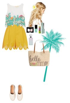 """Summer outfit"" by eliza-redkina ❤ liked on Polyvore featuring Temperley London, Mara Hoffman, Style & Co., ASOS, Maybelline, Calvin Klein, NARS Cosmetics, Jin Soon, Summer and outfit"