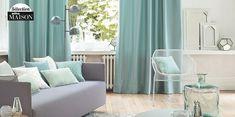 Nuancier déco : comment apprivoiser le vert d'eau Sala Vintage, Sweet Home, Curtains, Interior, Inspiration, Home Decor, Joy, Mint Green, House Decorations