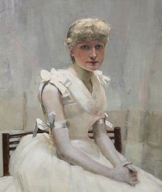 Portrait of a young lady, by John Lavery