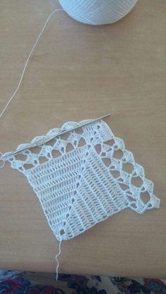Hand made crochet collars - Knitted detachable collar - Hand made collar - Knitt Crochet Motifs, Hand Crochet, Crochet Stitches, Crochet Shawl, Lace Doilies, Crochet Doilies, Crochet Flowers, Doily Patterns, Crochet Patterns