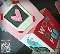 With Valentine's Day almost here, I thought I'd show you all something I created using my crafting supplies and some of my favorite things from Maya Road. This little love bug is all ready for the big day. Love Bugs, Chipboard, Big Day, Maya, Craft Supplies, Valentines Day, My Favorite Things, Create, Design