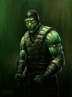 25 Fan Art Masterpieces Inspired By Mortal Kombat (Reptile by Edward Manuva) - Reptiles - Beef Art Mortal Kombat, Mortal Kombat Scorpion, Reptile Mortal Kombat, Dojo, Les Reptiles, Mortal Combat, Stoner Art, Dragon Knight, Video Game Art