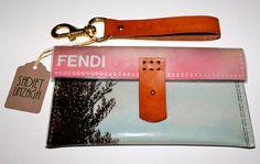 magazine clutch purse   FENDI Fashion Magazine Clutch Bag by SadietUnzaga on Etsy