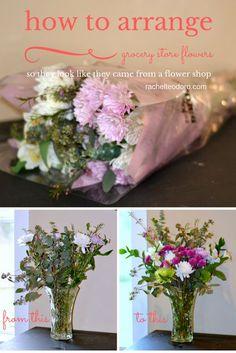 How to Arrange Grocery Store Flowers look like Flower Shop Flowers