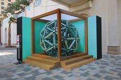 https://flic.kr/p/F1YqoY | Sphere-3d-dubai | Anamorphic Art installation combined with Augmented Reality. An art project by Leon Keer and Joost Spek. On show at dubaicanvas festival from 1 to 14 March at JBR, Jumeirah Beach walk Dubai. Download the app ENTITI, search for 'dubaicanvas' and scan the icasahedron sphere to see the artwork come alive. 