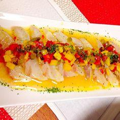 クリスマスディナーその1 - 36件のもぐもぐ - 真鯛のカルパッチョ by はっしー