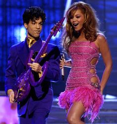 Prince's 20 Greatest Outfits of All Time: Prince at the Grammy Awards with Beyoncé, 2004