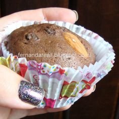 Cupcakes de Chocolate Recheados com Nutella -Fernanda Reali