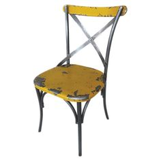 great vintage-inspired yellow chair