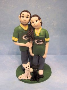 Sports Themed Wedding  Cake topper ~ Go Packers Greenbay Wisconsin