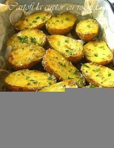 » Cartofi la cuptor cu rozmarinCulorile din Farfurie Potatoes, Vegetables, Food Ideas, Crafts, Salads, Essen, Manualidades, Potato, Vegetable Recipes