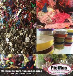 Tenemos variedad de materiales para crear tus accesorios favoritos, ¿Buscas uno en específico? Pregúntanos aquí... #PietRas #Accesorios