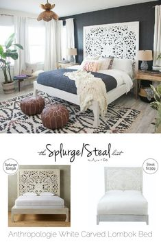 Anthropologie Lombok White Carved Wood Bed Anthropologie Lombok White Carved Wood Bed Arie Co. The post Anthropologie Lombok White Carved Wood Bed appeared first on Wood Ideas. Bedroom Design On A Budget, Rustic Bedroom Design, Farmhouse Bedroom Decor, Bedroom Designs, Wood Carved Headboard, Carved Beds, Carved Wood, Lombok, Bedroom Sets