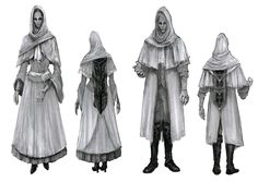 View an image titled 'White Church Attire Art' in our Bloodborne art gallery featuring official character designs, concept art, and promo pictures. Bloodborne Outfits, Bloodborne Cosplay, Bloodborne Concept Art, Bloodborne Art, Dark Fantasy, Fantasy Art, Dungeons And Dragons, Office Outfits Women, Woman Outfits