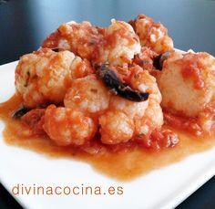 Coliflor en salsa italiana » Divina CocinaRecetas fáciles, cocina andaluza y del mundo. » Divina Cocina