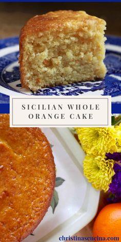 Just Desserts, Delicious Desserts, Dessert Recipes, Desserts With Oranges, Food Cakes, Cupcake Cakes, Cupcakes, Whole Orange Cake, Orange Cakes