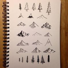 Mountain Bible journaling ideas. #biblejournaling