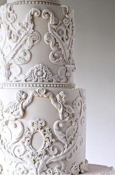 Sophia's Cake Boutique Big Wedding Cakes, Luxury Wedding Cake, Themed Wedding Cakes, Elegant Wedding Cakes, Beautiful Cake Designs, Beautiful Cakes, Cake Hacks, White Cakes, Engagement Cakes