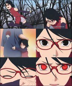 Sarada finally awakens her Sharingan out of excitement of seeing her Dad, Sasuke Uchiha ❤️❤️❤️ #Boruto #Episode20 #Gaiden #NexrGeneration