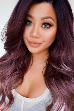 18 chocolate lilac hair ideas is the delicious new color trend – my Lilac Hair, Hair Color Purple, Fun Hair Color, Faded Hair Color, Pastel Hair, Tapered Haircut, Fade Haircut, My Hairstyle, Cool Hairstyles