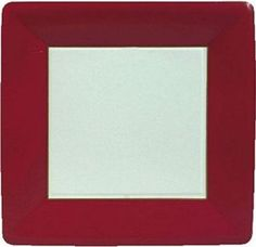 Count Multi Pack Set Of Large Square Disposable Paper Plates W Modern VS Classic Edition Home Decor Fun July Block Party Bash Red White Colored