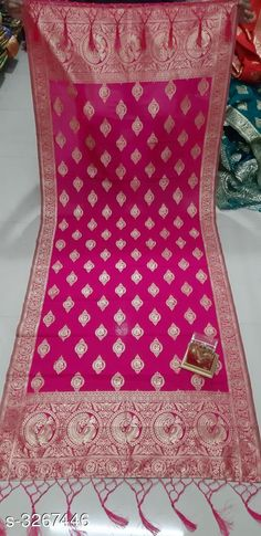 Checkout this latest Dupattas Product Name: *Women's Banarasi Silk Dupatta* Sizes:Free Size Country of Origin: India Easy Returns Available In Case Of Any Issue   Catalog Rating: ★3.9 (308)  Catalog Name: New Stylish Women's Banarasi Silk Dupattas Vol 6 CatalogID_451246 C74-SC1006 Code: 182-3267446-546