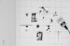 diy moodboard wall black & white