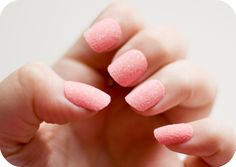 Flocked Nails  Use colored flocking to give your nails a velvet look.