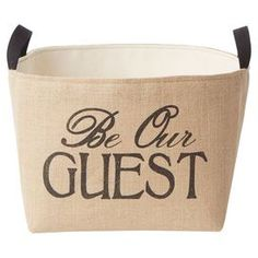 Be Our Guest Bin (with slippers?)