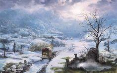 Snow country by mingrutu on DeviantArt